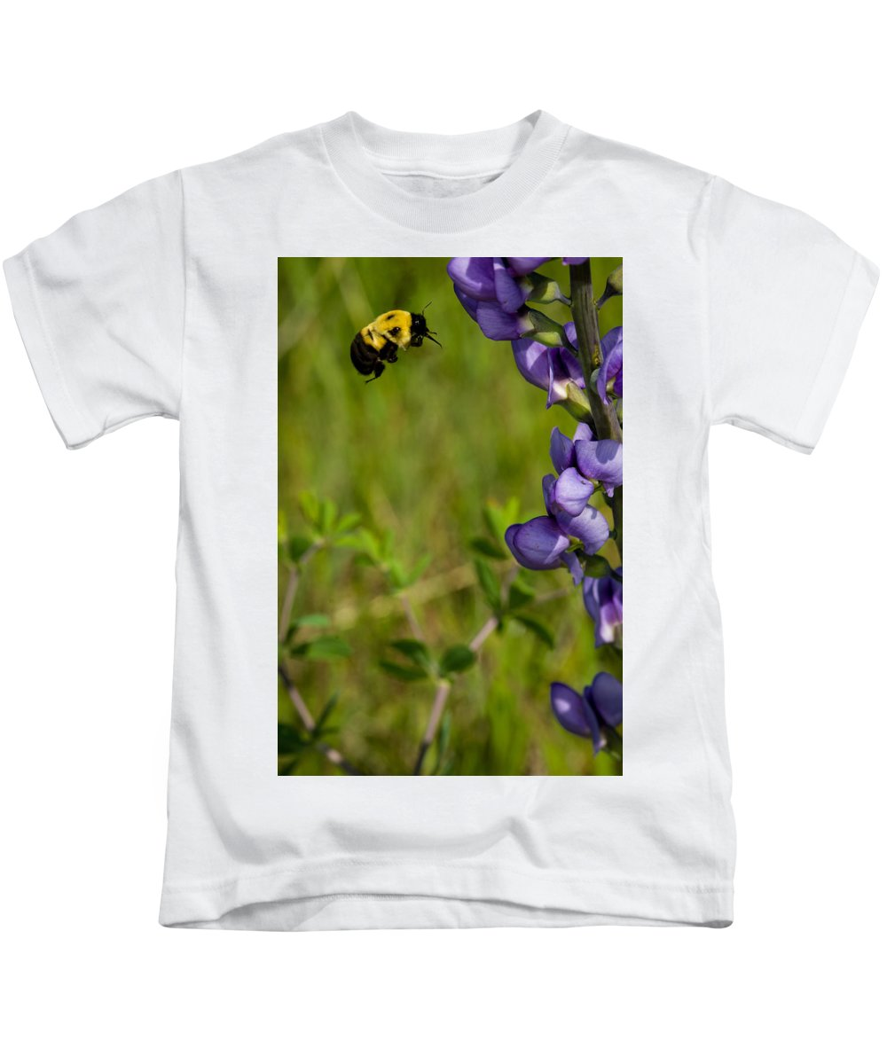 Insect Kids T-Shirt featuring the photograph Bumble Bee And Milk-vetch by Jeff Phillippi
