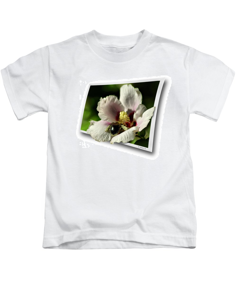 2d Kids T-Shirt featuring the photograph Busy Bee by Brian Wallace