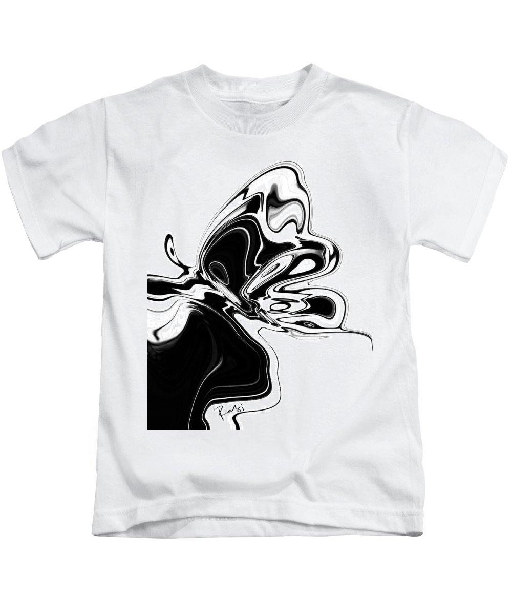 Abstract Kids T-Shirt featuring the digital art Butterfly by Rabi Khan