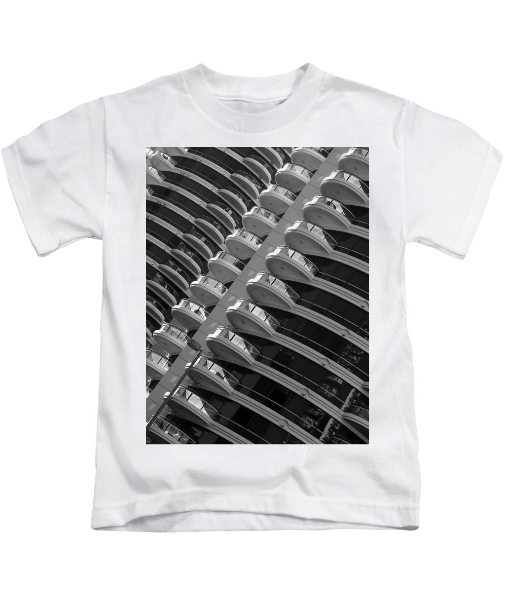 Calgary Kids T-Shirt featuring the photograph Calgary Condo Highr1se by David Pantuso