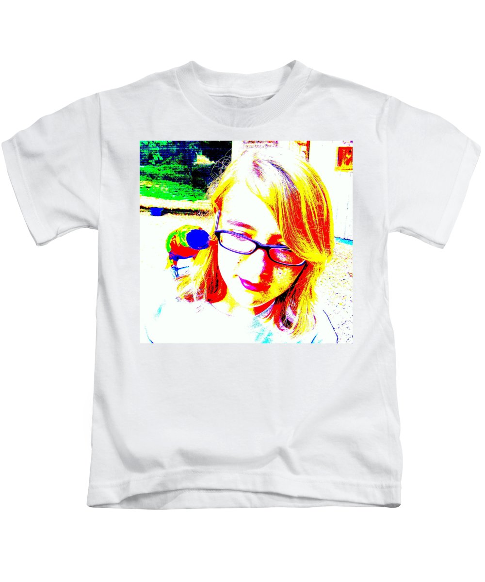 Bird Kids T-Shirt featuring the photograph Can You Hear Me Now by Ed Smith