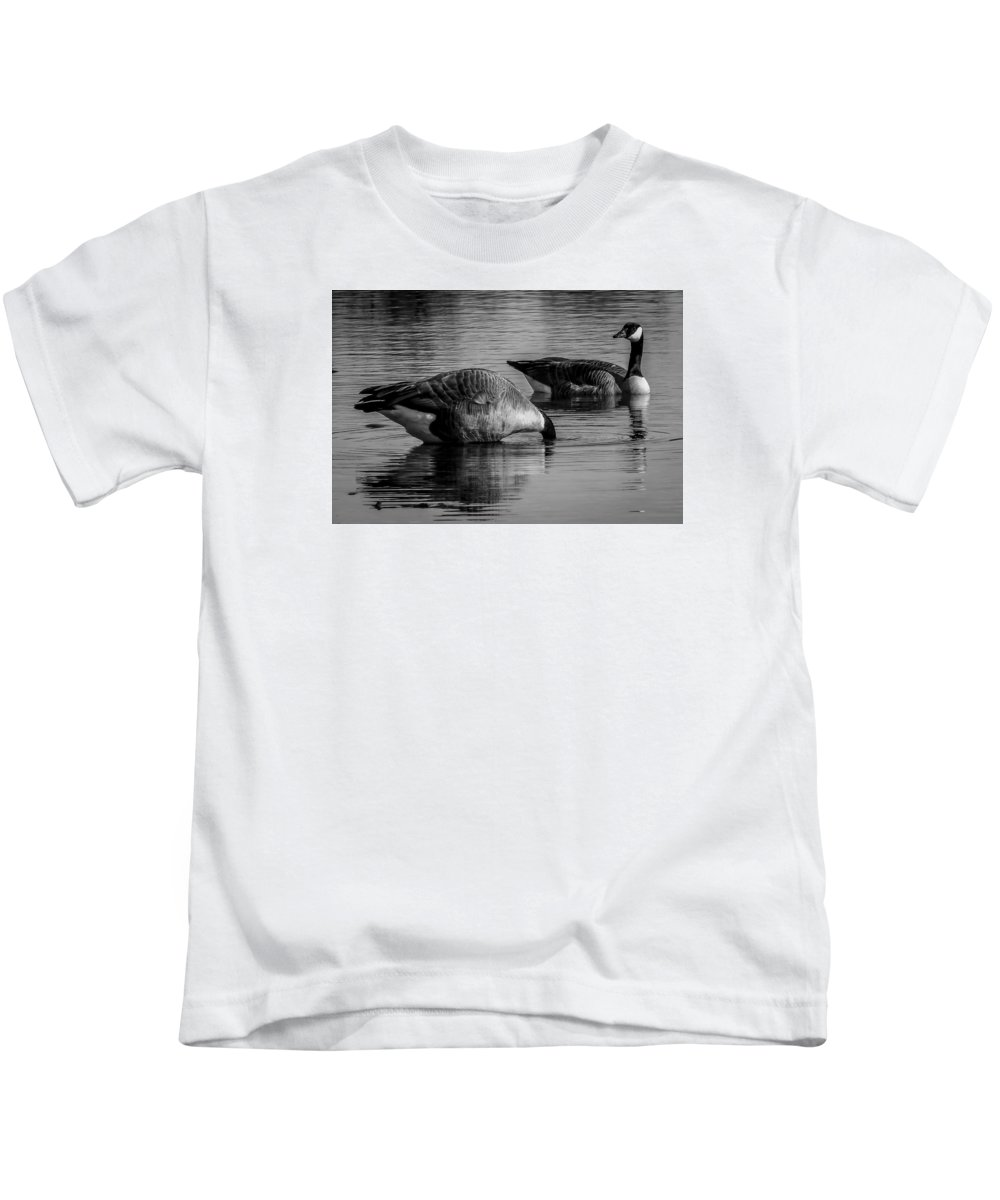 Kids T-Shirt featuring the photograph Canadian Geese 2 by Reed Tim