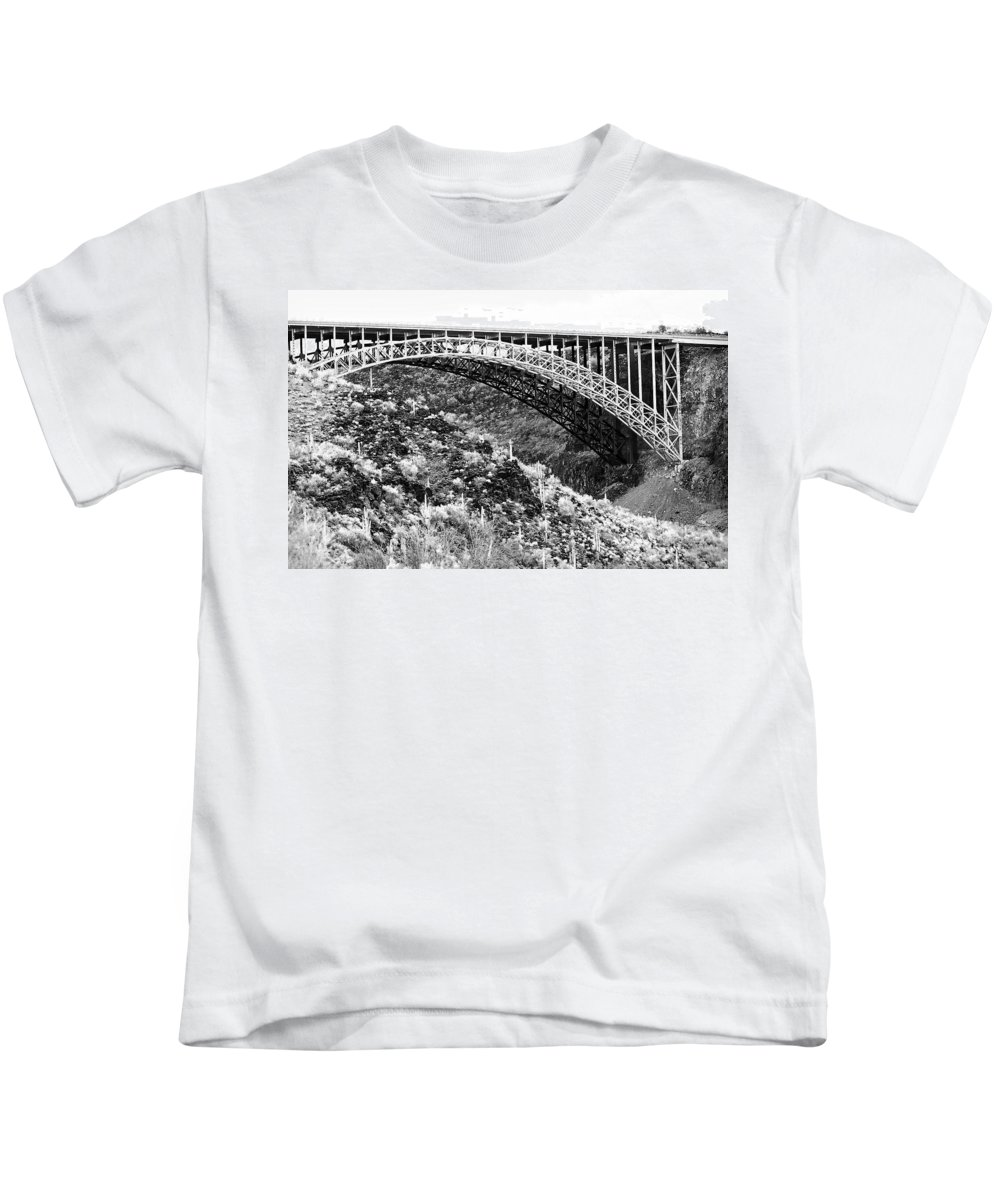 Bridge Kids T-Shirt featuring the photograph Canyon Bridge by Phyllis Denton