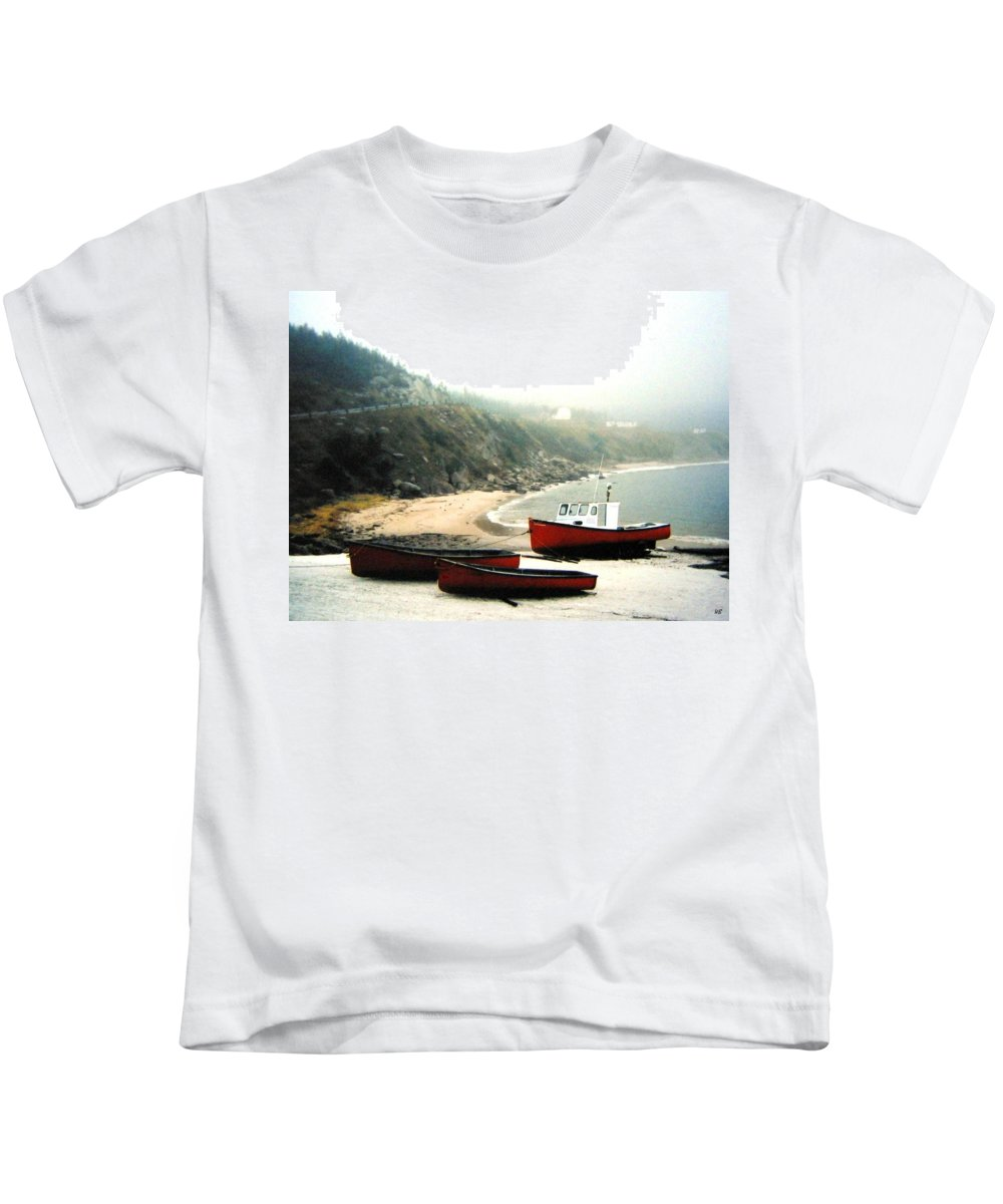 Fishing Boats Kids T-Shirt featuring the photograph Cape Breton Fishing Boats by Will Borden