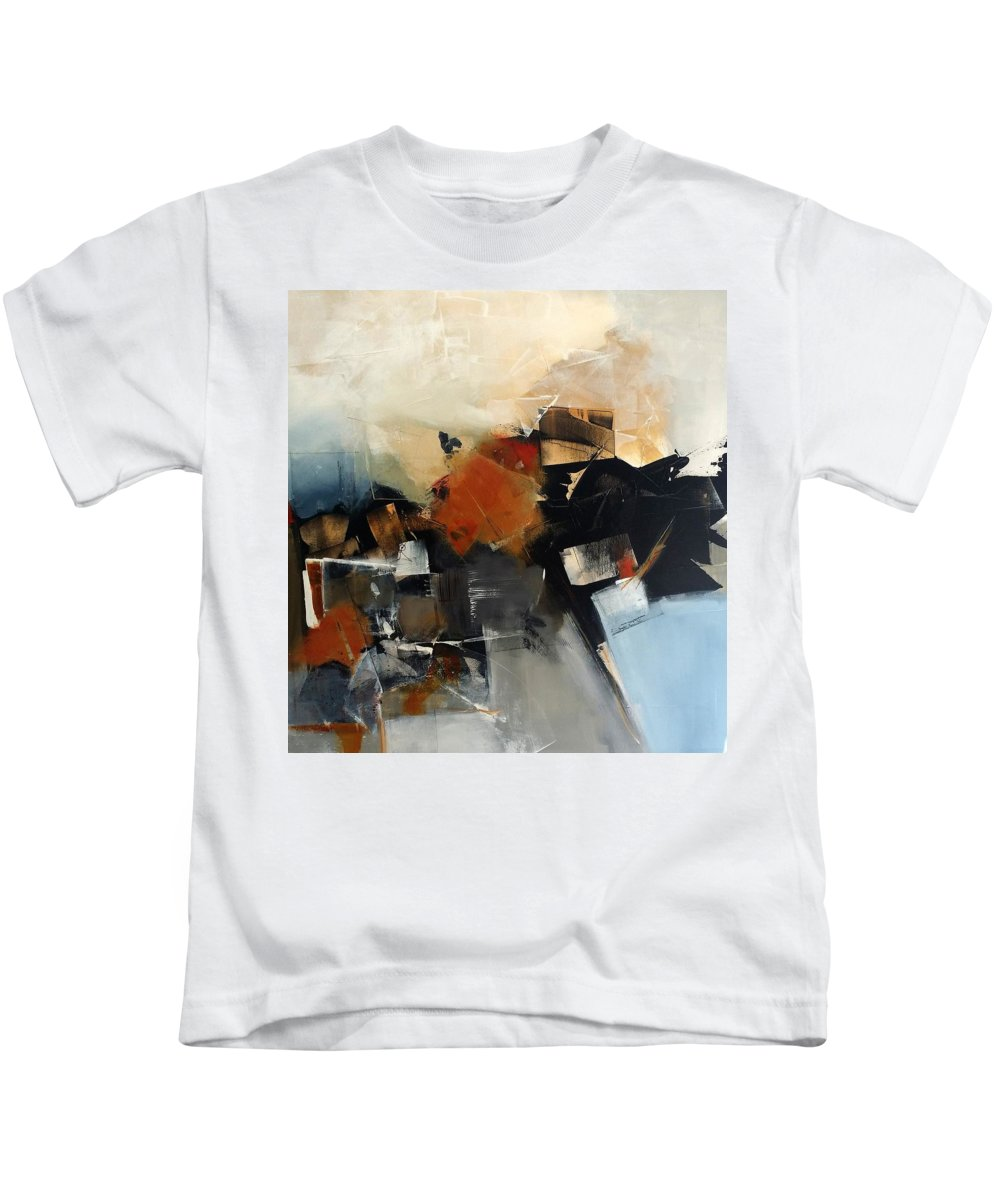 Original Abstract Acrylic Mixed Media Canvas Kids T-Shirt featuring the painting Caravan by Nicholas Foschi