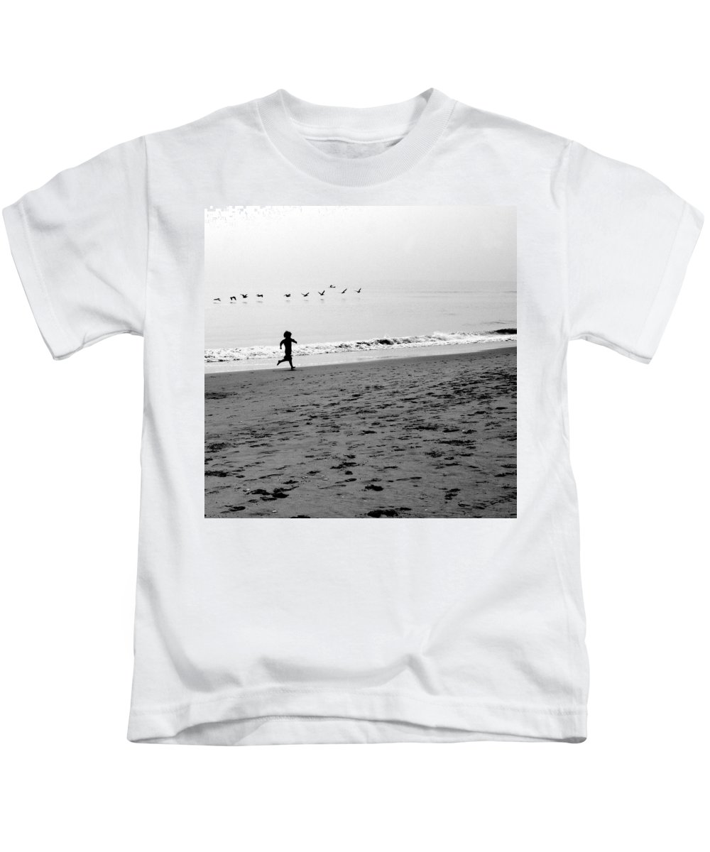 Photograph Kids T-Shirt featuring the photograph Carefree by Jean Macaluso