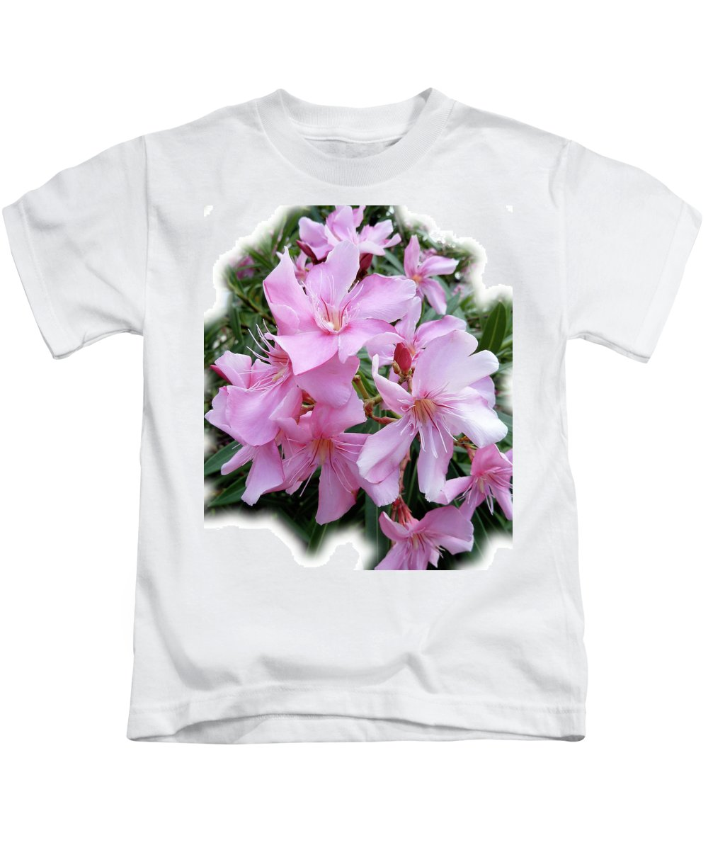 Pink Kids T-Shirt featuring the photograph Caribbean Oleander by Marie Hicks