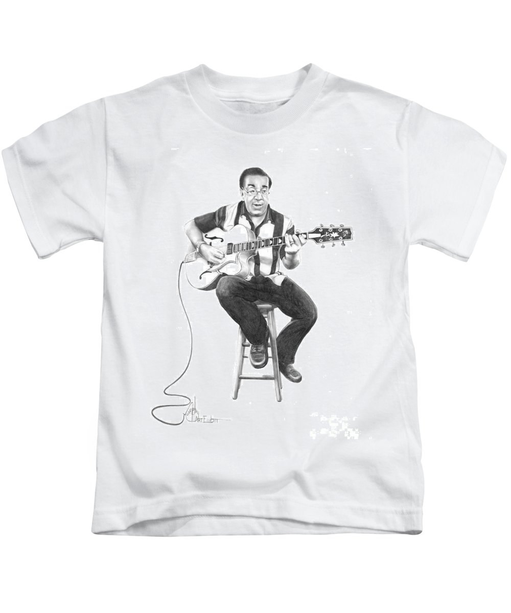 Drawing Kids T-Shirt featuring the drawing Carmine D'amico by Murphy Elliott