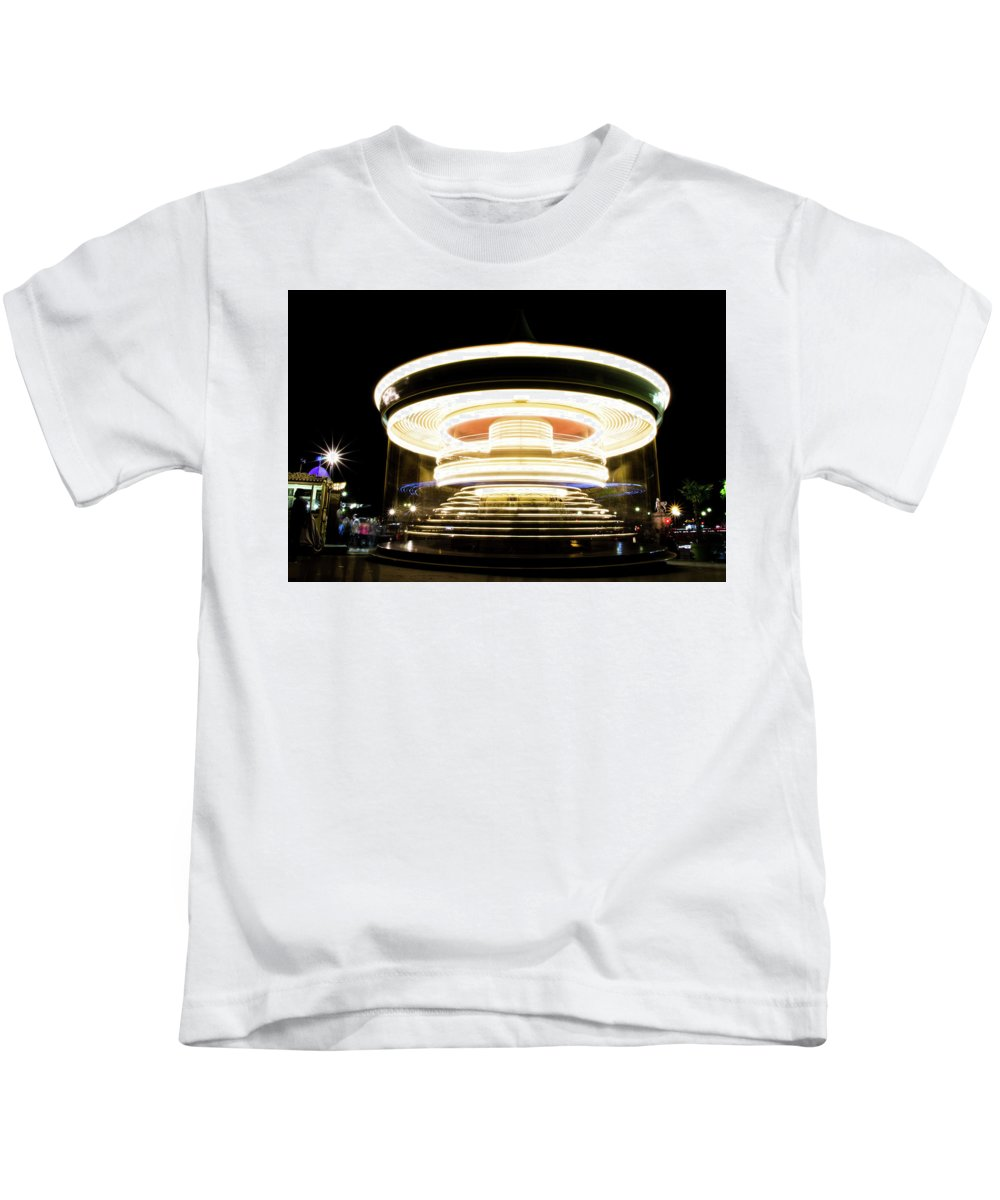 Night Kids T-Shirt featuring the photograph Carousel by Guillaume GERARD