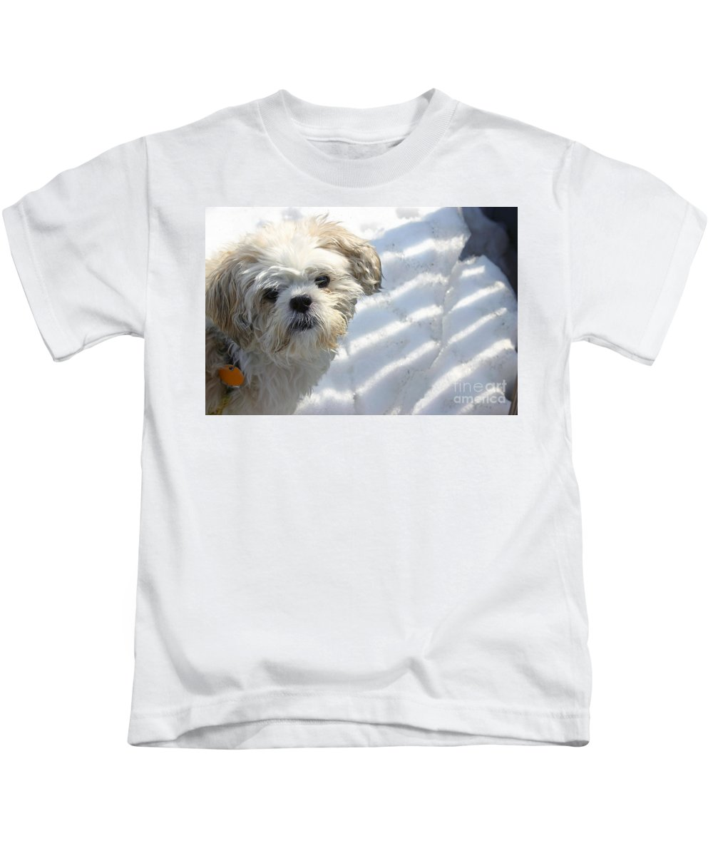 White Kids T-Shirt featuring the photograph Cashew by Michel Poulin