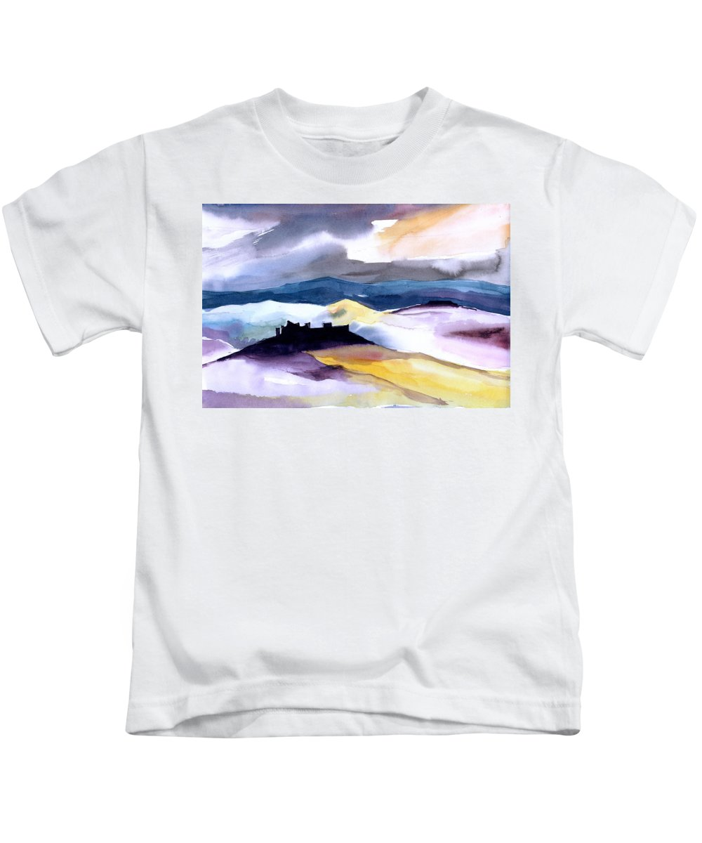 Water Kids T-Shirt featuring the painting Castle by Anil Nene