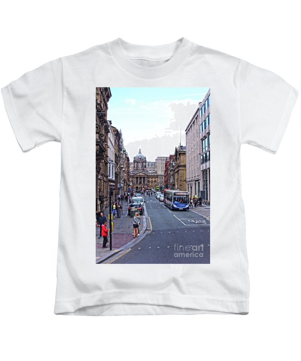Liverpool Kids T-Shirt featuring the photograph Castle Street - Liverpool by Doc Braham