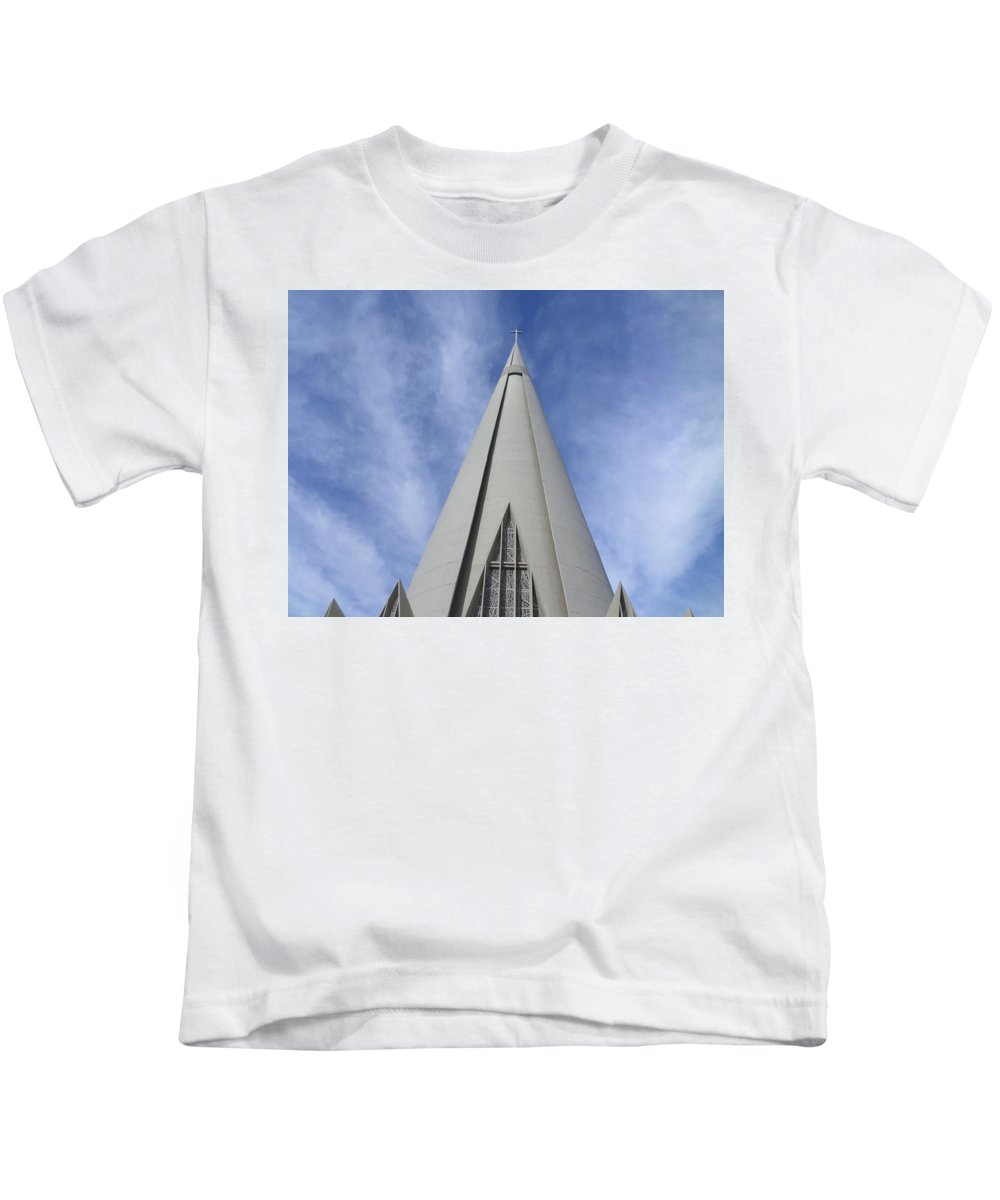 Cathedral Kids T-Shirt featuring the photograph Cathedral Minor Basilica Our Lady Of Glory by Bruna Lima