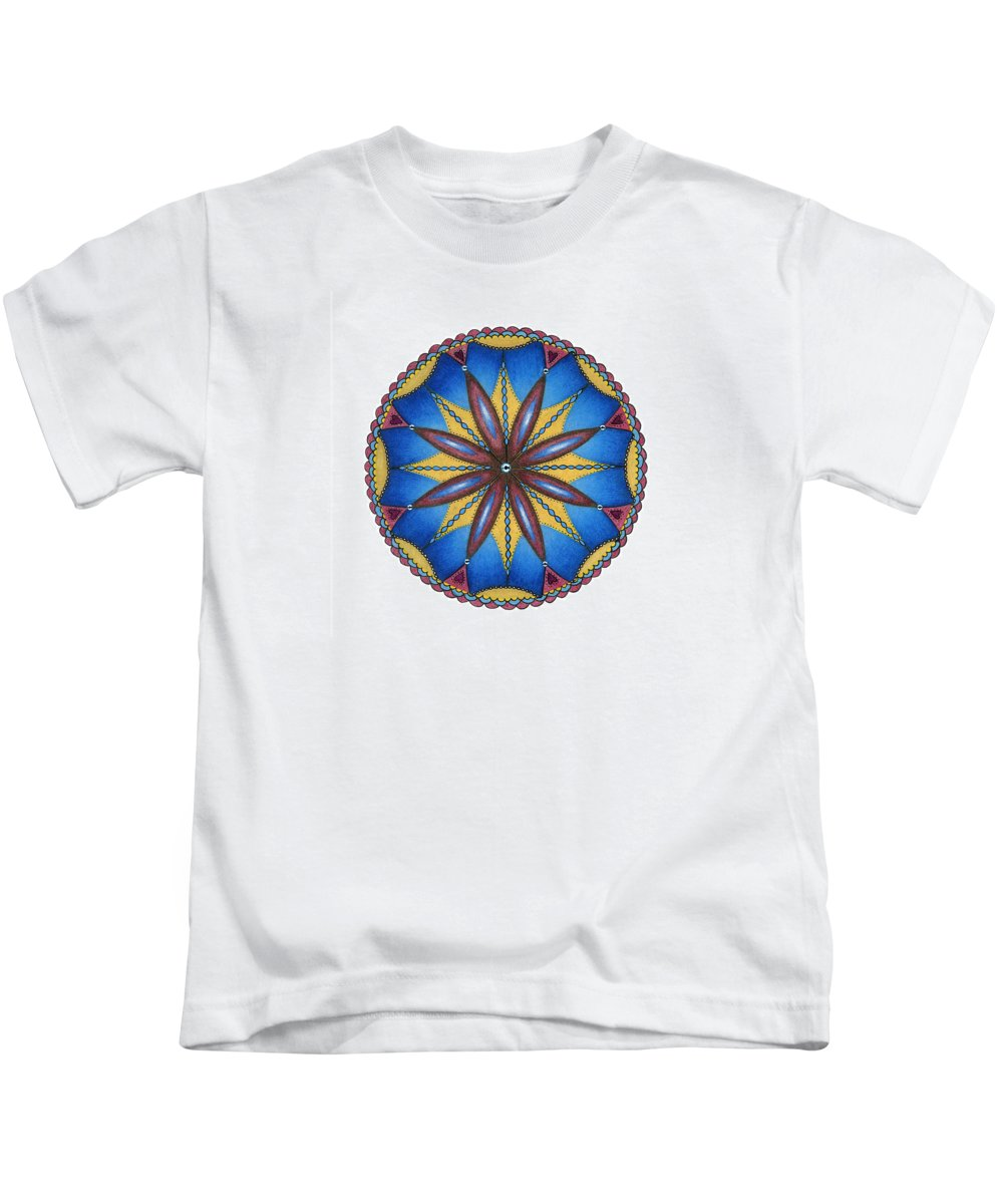 Blues Kids T-Shirt featuring the drawing Celebration by Merrill Masson