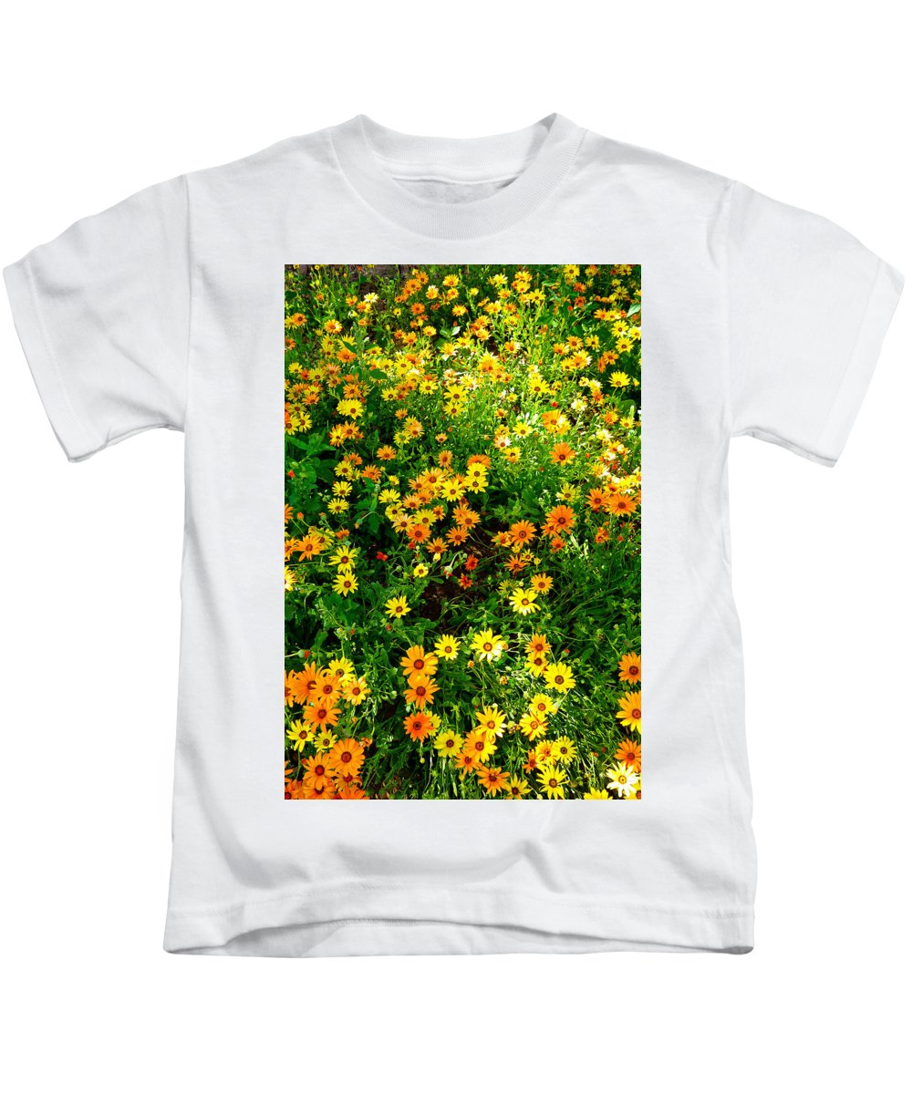 Celebration Kids T-Shirt featuring the photograph Celebration Of Yellows And Oranges Study 4 by Robert Meyers-Lussier