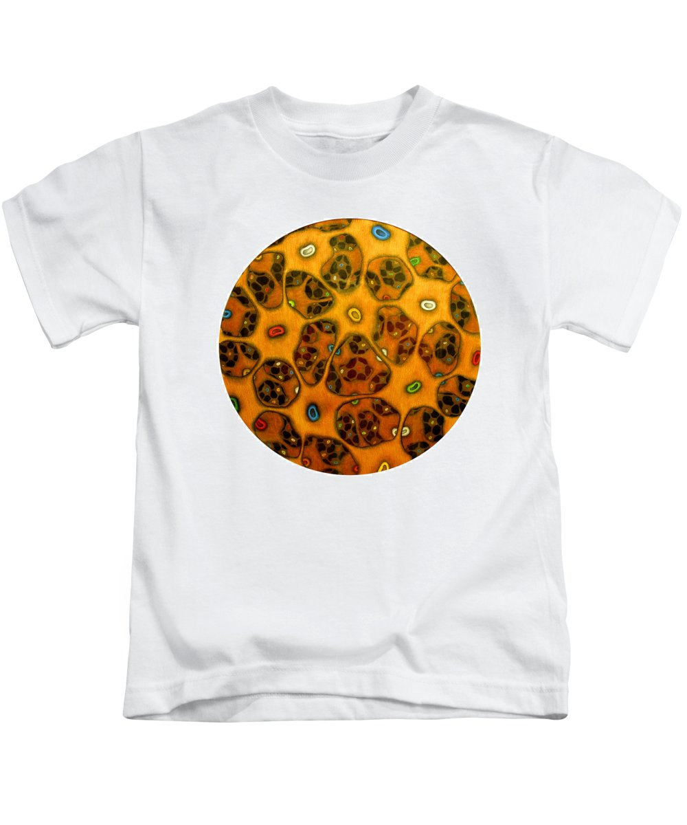 Cells Kids T-Shirt featuring the drawing Cell Network by Nancy Mueller