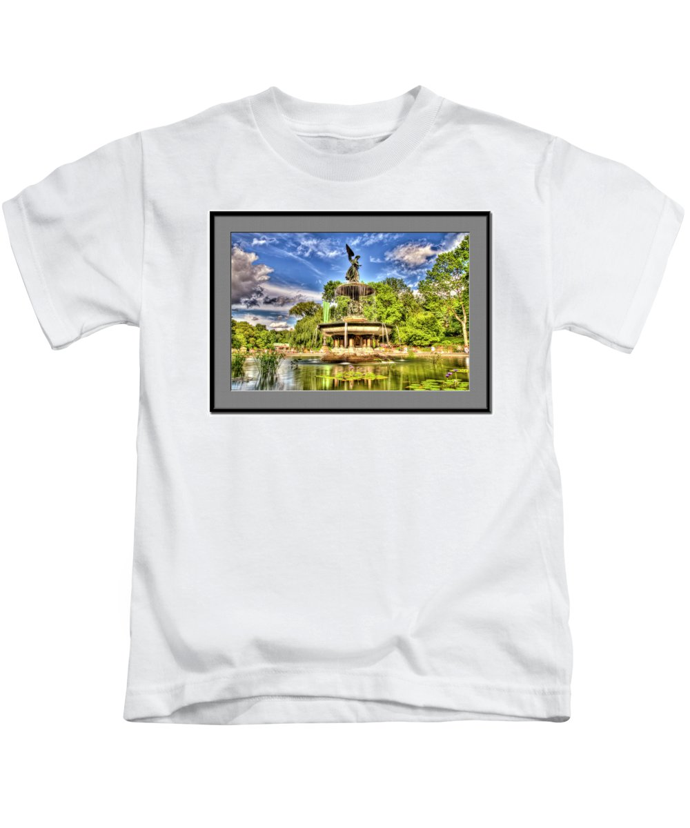 Recent Kids T-Shirt featuring the photograph Central Park by Geraldine Scull