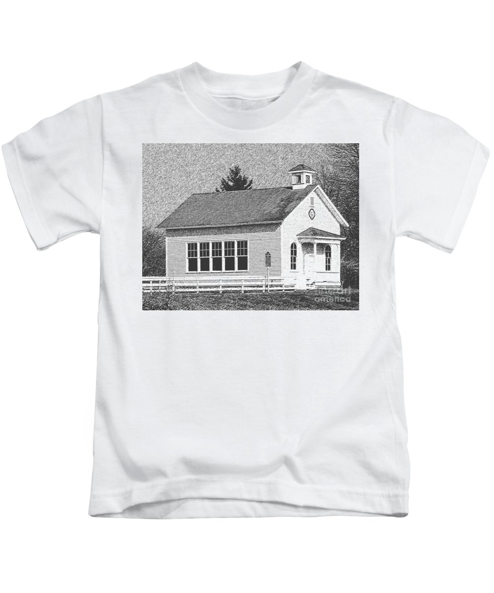 School Kids T-Shirt featuring the photograph Chalkboard Slate by September Stone