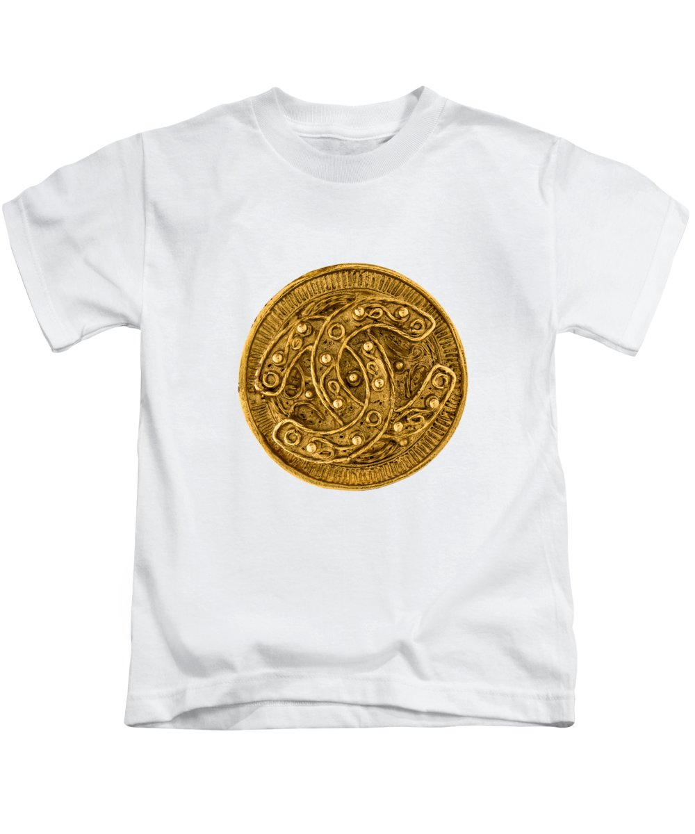 Chanel Kids T-Shirt featuring the painting Chanel Jewelry-9 by Nikita