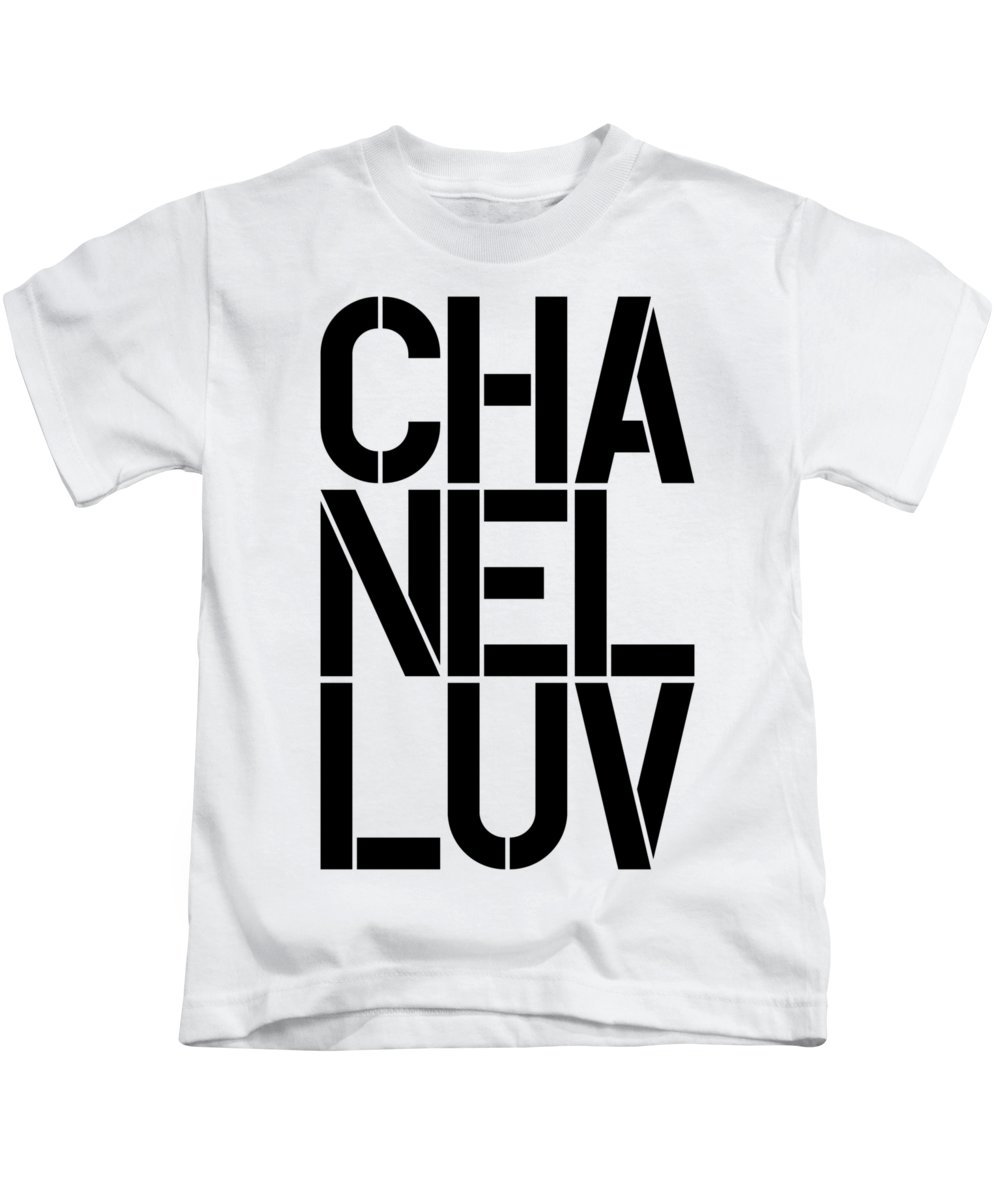 Chanel Kids T-Shirt featuring the painting Chanel Luv-1 by Nikita