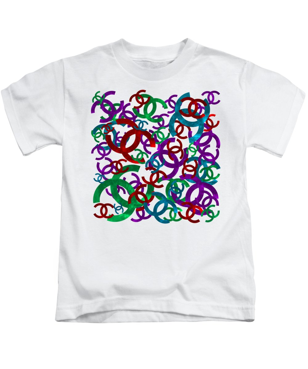 Chanel Kids T-Shirt featuring the painting Chanel Sign-1 by Nikita