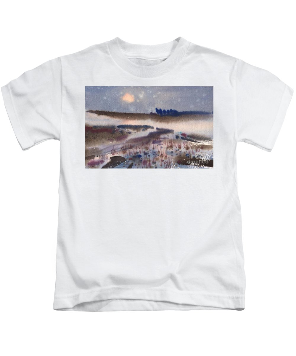 Snow Kids T-Shirt featuring the painting Changing Seasons by Donald Maier
