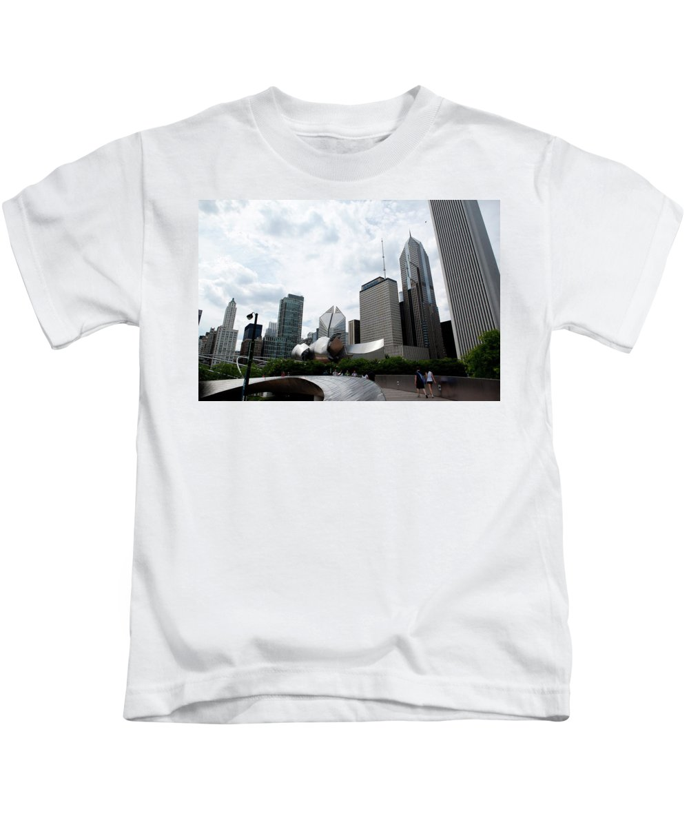 Chicago Kids T-Shirt featuring the photograph Chicago Skyscrapers by Rich Sirko