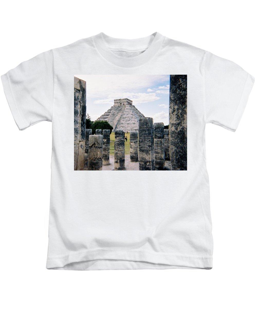 Chitchen Itza Kids T-Shirt featuring the photograph Chichen Itza 3 by Anita Burgermeister