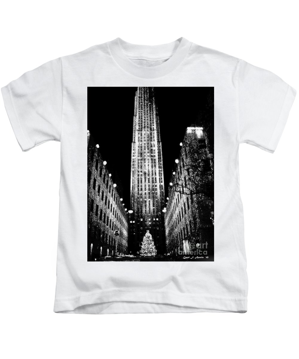 Fine Art Kids T-Shirt featuring the photograph Christmas In New York City by Carol F Austin