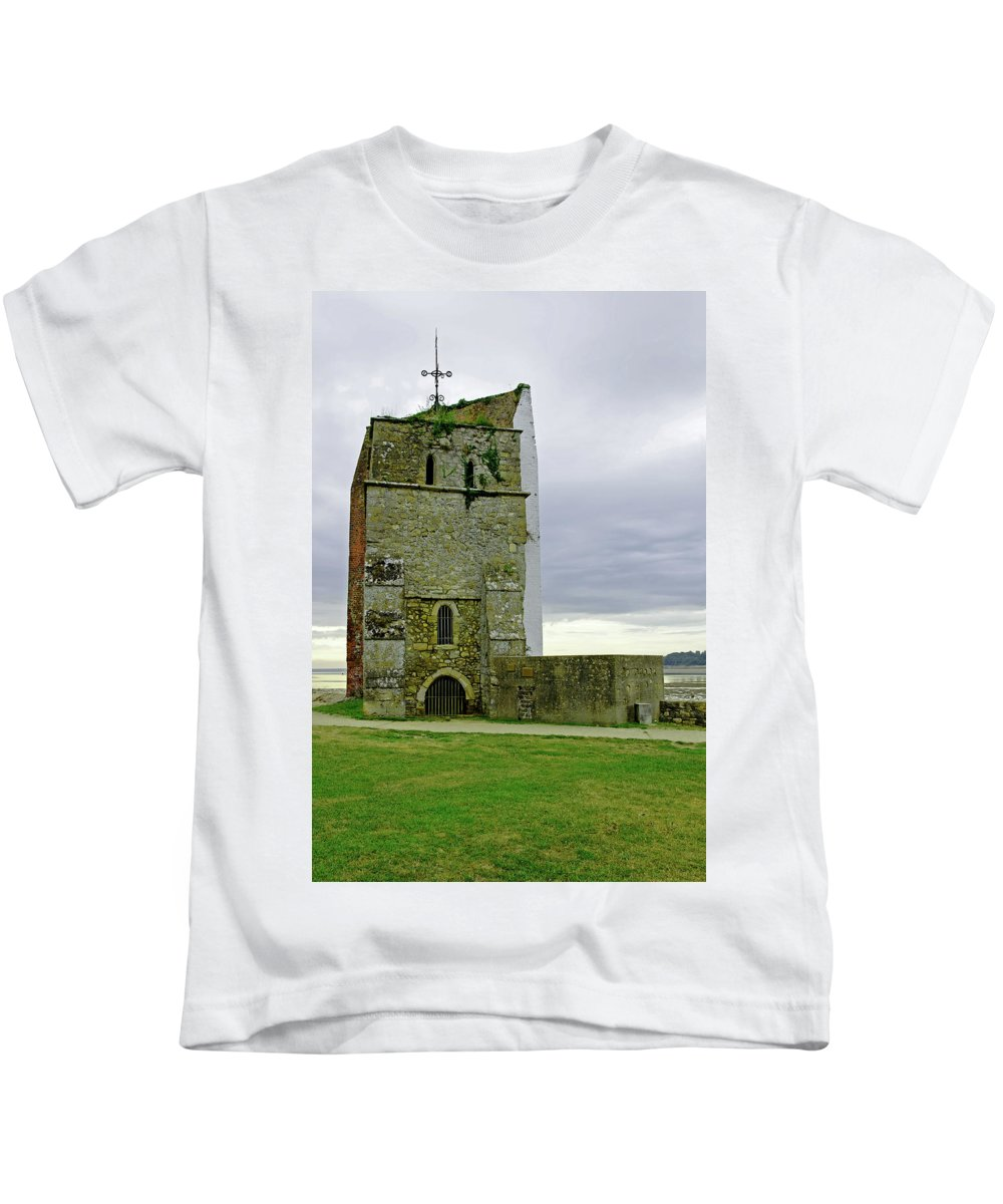 Europe Kids T-Shirt featuring the photograph Church Tower - Remains Of St Helens Church by Rod Johnson
