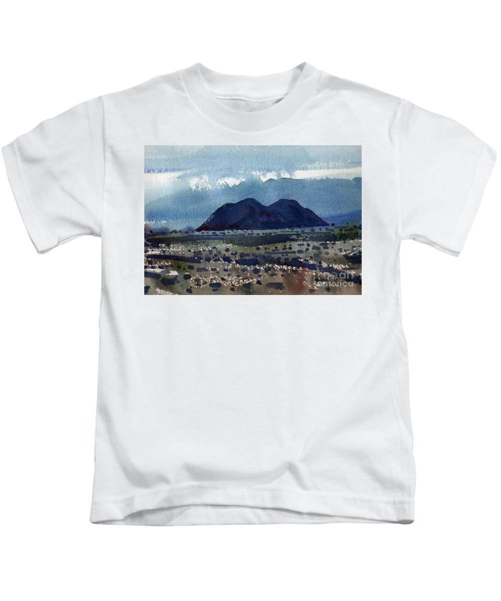 Cinder Cone Kids T-Shirt featuring the painting Cinder Cone Death Valley by Donald Maier