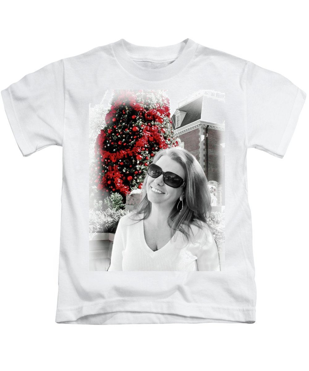 Christmas Kids T-Shirt featuring the digital art Cindy by Joan Minchak
