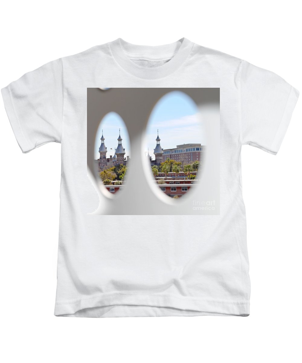University Of Tampa Kids T-Shirt featuring the photograph Circle Ot Tampa by Jost Houk
