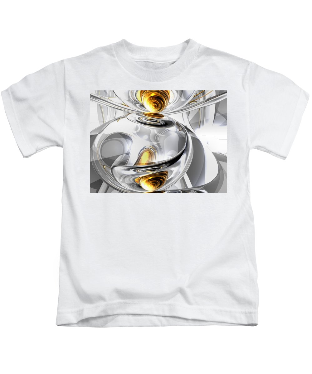3d Kids T-Shirt featuring the digital art Circumvoluted Abstract by Alexander Butler