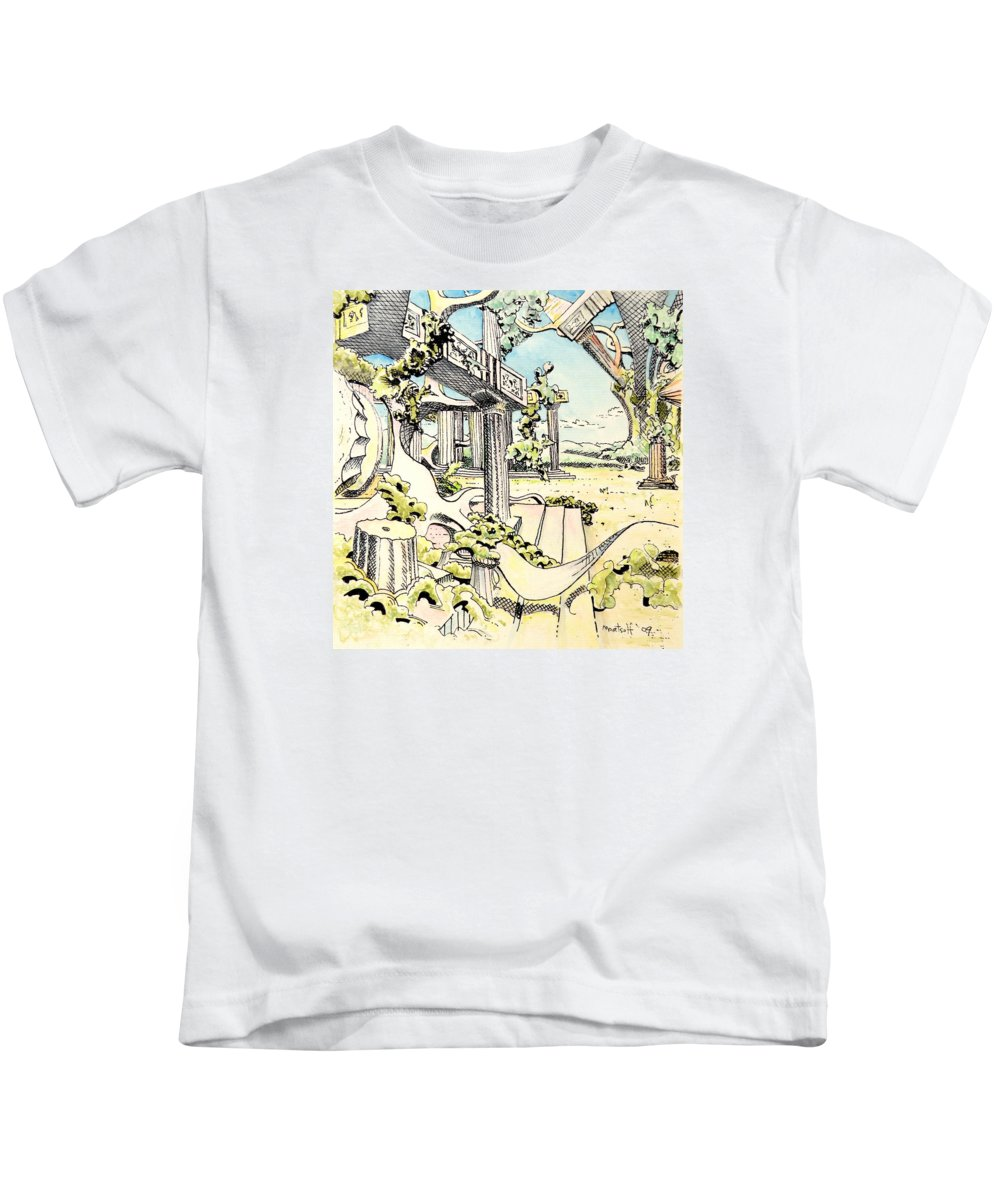 Greek Kids T-Shirt featuring the painting Classical Visitation by Dave Martsolf