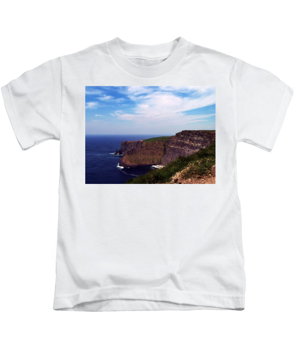 Irish Kids T-Shirt featuring the photograph Cliffs Of Moher Aill Na Searrach Ireland by Teresa Mucha