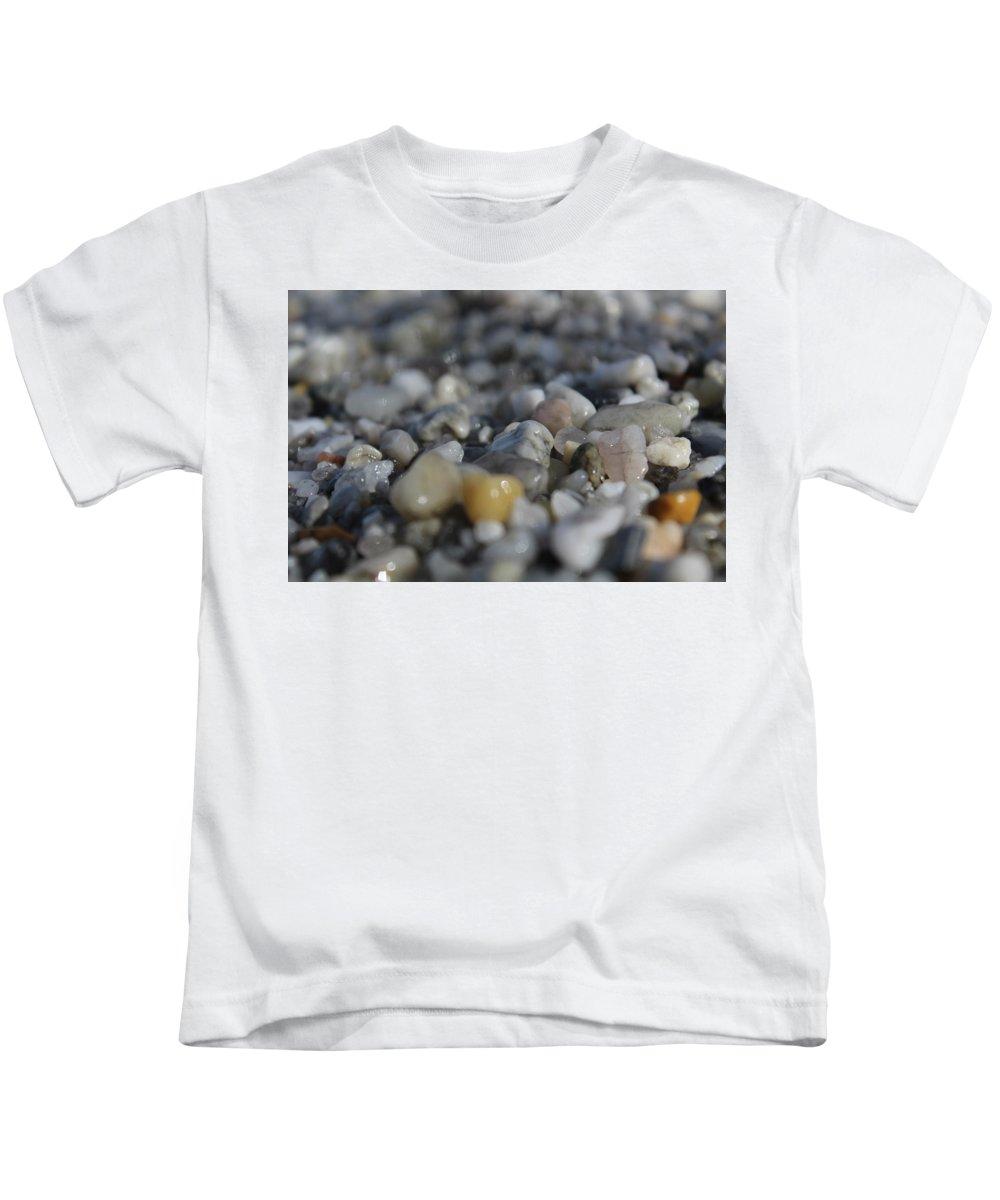 Rocks Kids T-Shirt featuring the photograph Close Up Of Rocks by Hunter Kotlinski