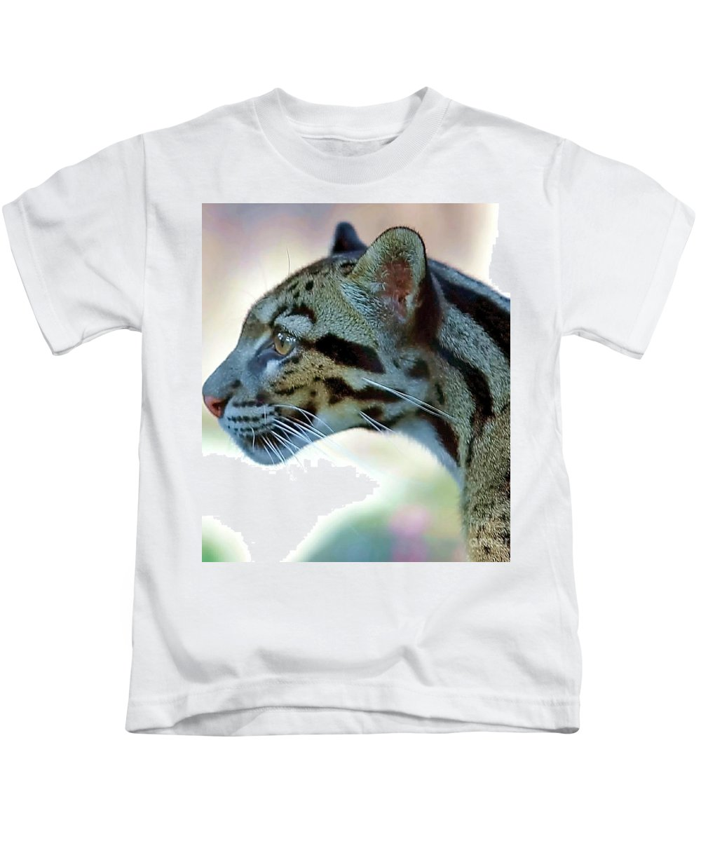 Leopard Kids T-Shirt featuring the photograph Clouded Leopard by Randy Matthews
