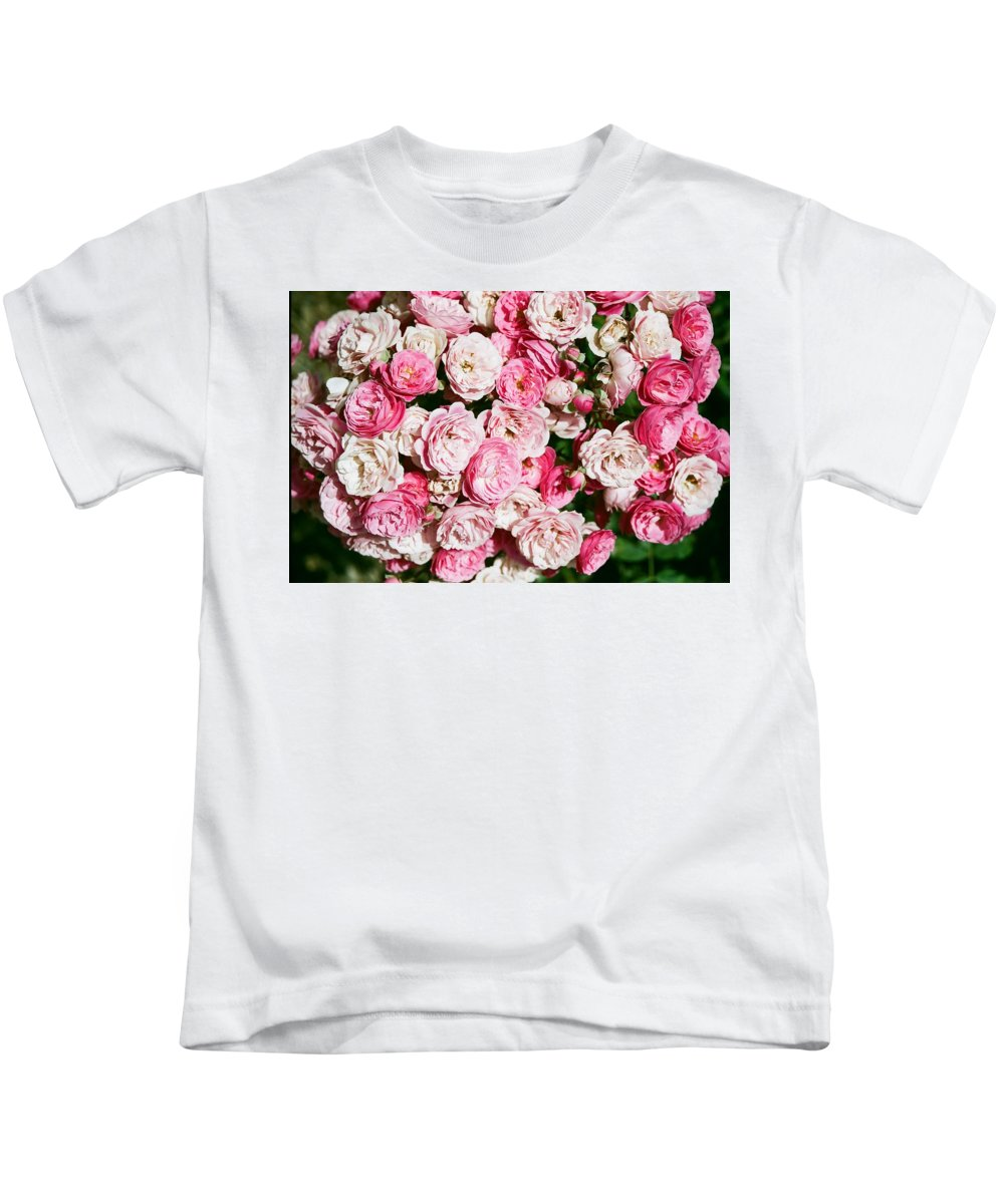 Rose Kids T-Shirt featuring the photograph Cluster Of Roses by Dean Triolo
