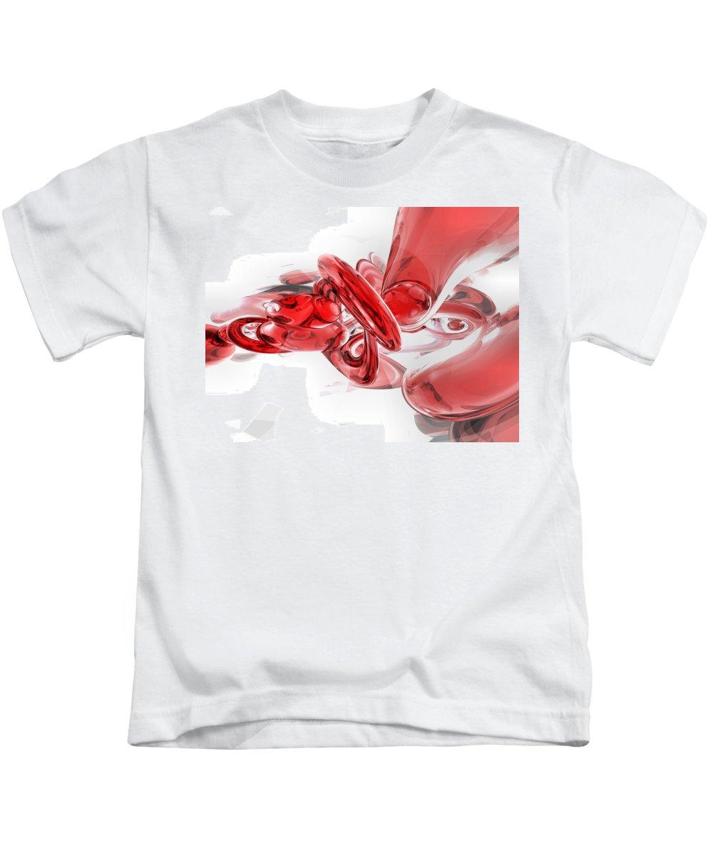 3d Kids T-Shirt featuring the digital art Coagulation Abstract by Alexander Butler
