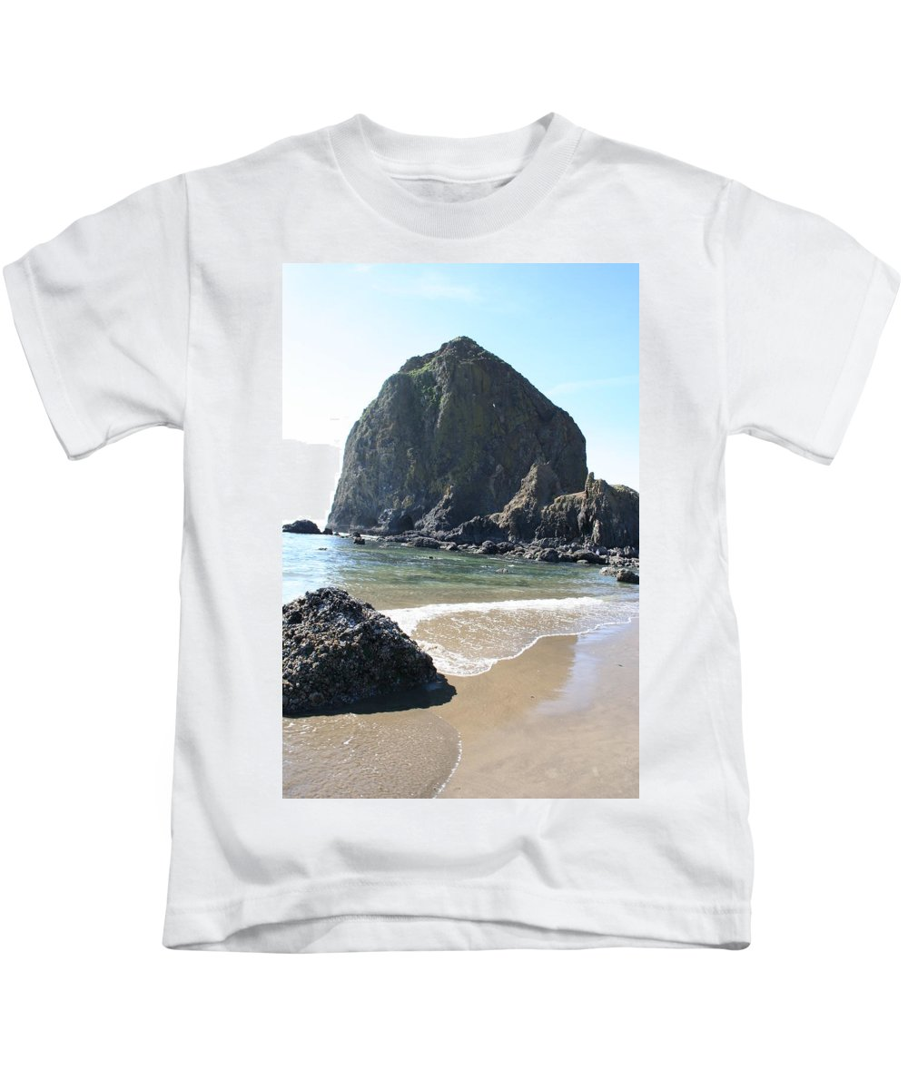Coastal Landscape Kids T-Shirt featuring the photograph Coastal Landscape - Cannon Beach Afternoon - Scenic Lanscape by Quin Sweetman