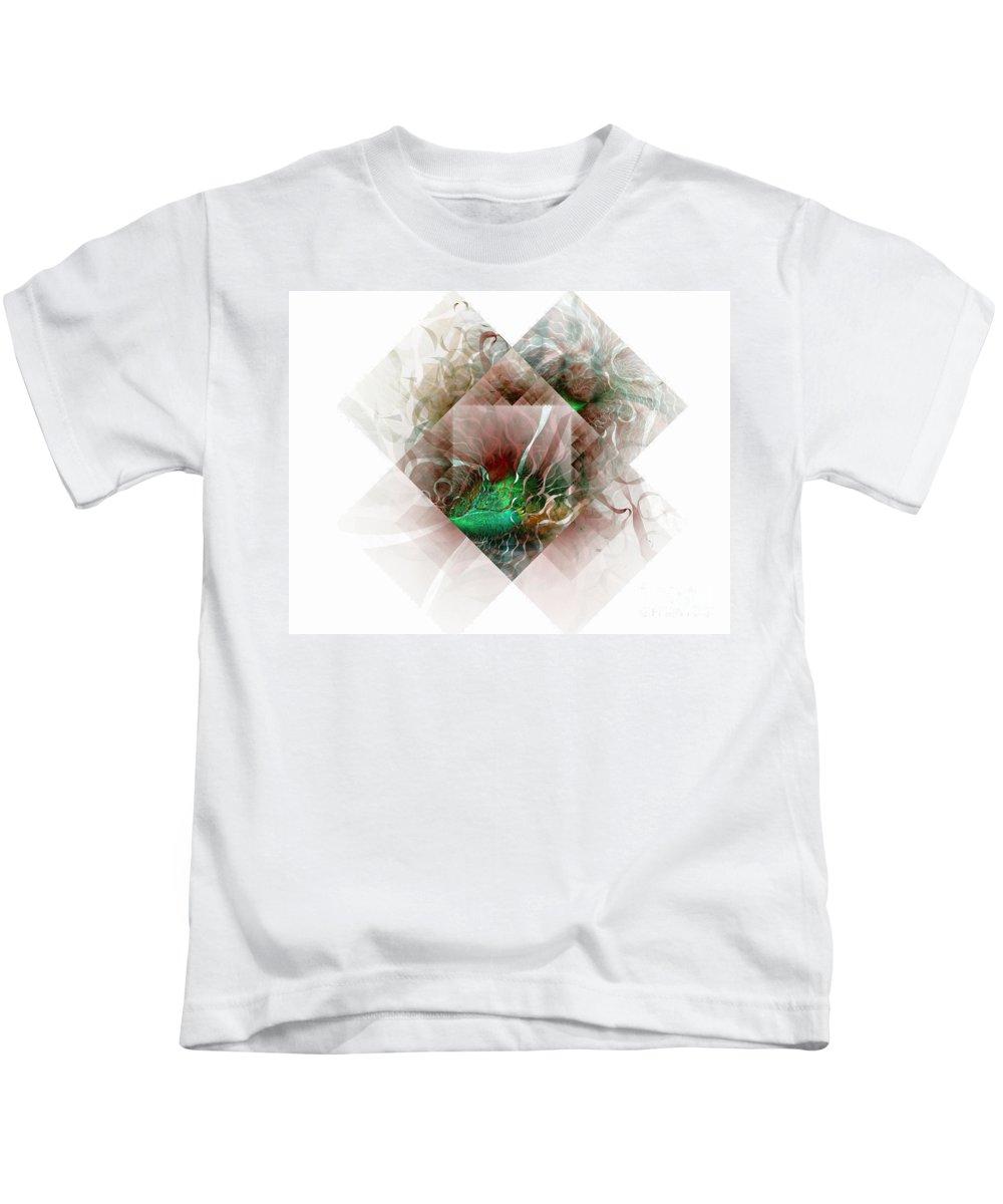 Digital Art Kids T-Shirt featuring the digital art Coastal Memoirs by Amanda Moore