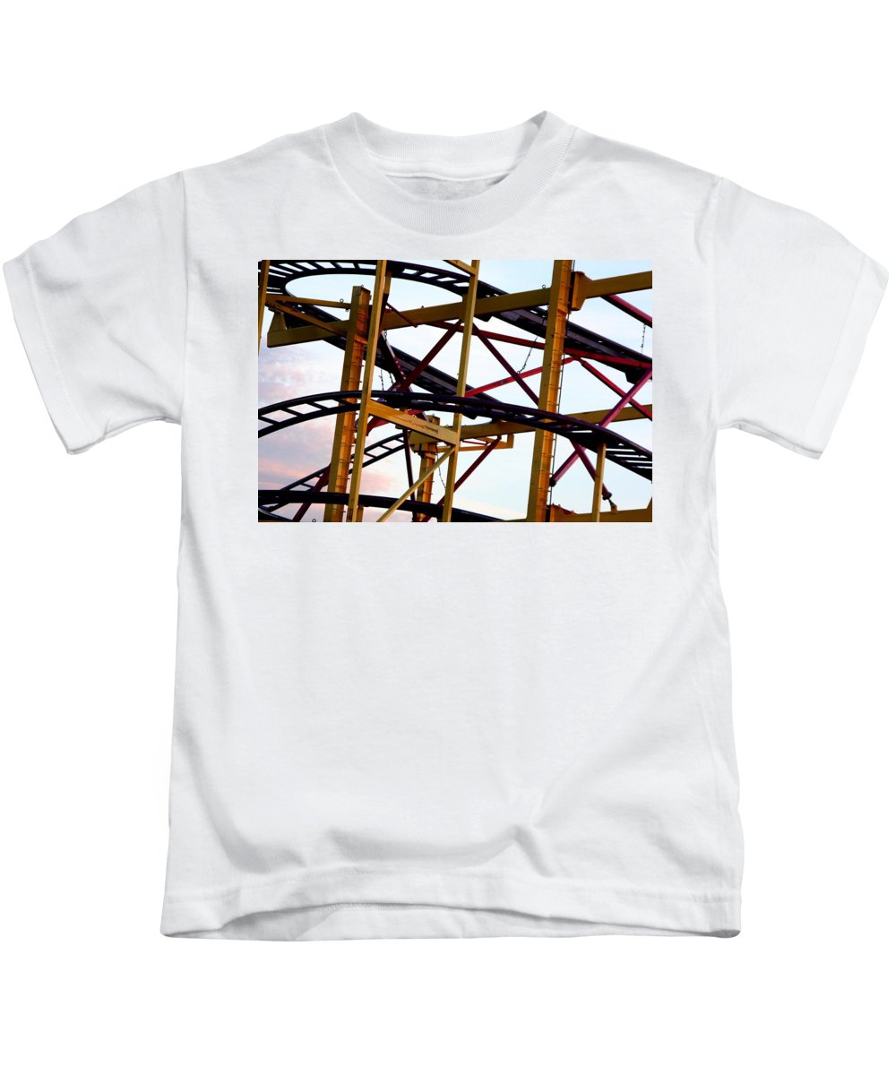 Fair Kids T-Shirt featuring the photograph Coaster by Joe Kozlowski