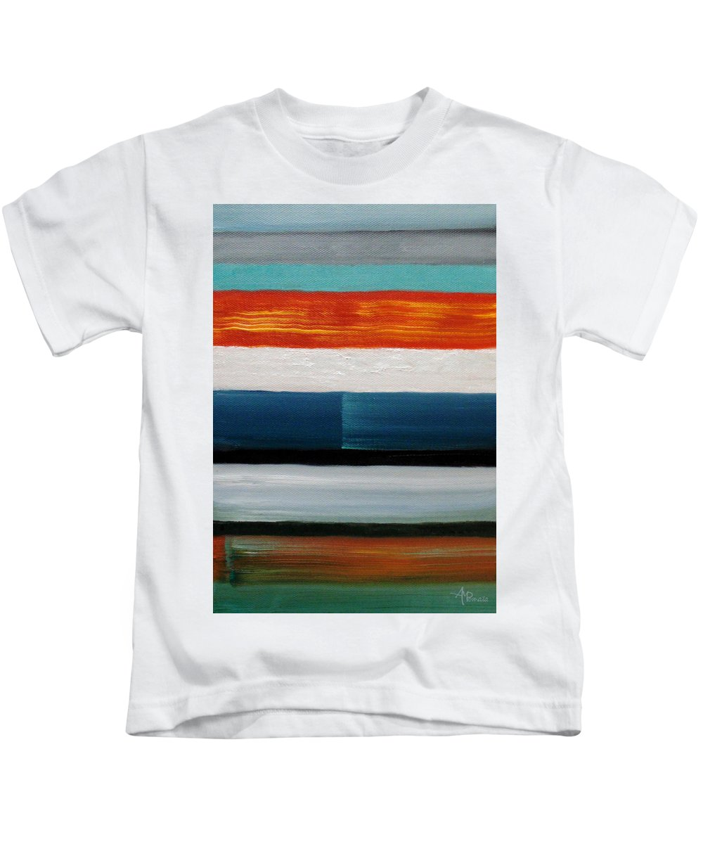 Color Abstract Kids T-Shirt featuring the painting Color Decoded by Angeles M Pomata