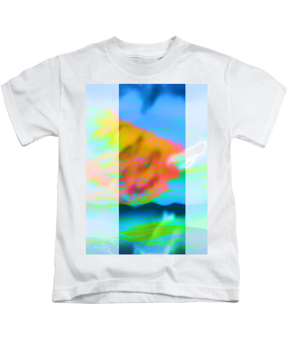 Color Kids T-Shirt featuring the digital art Color wave by Are Lund