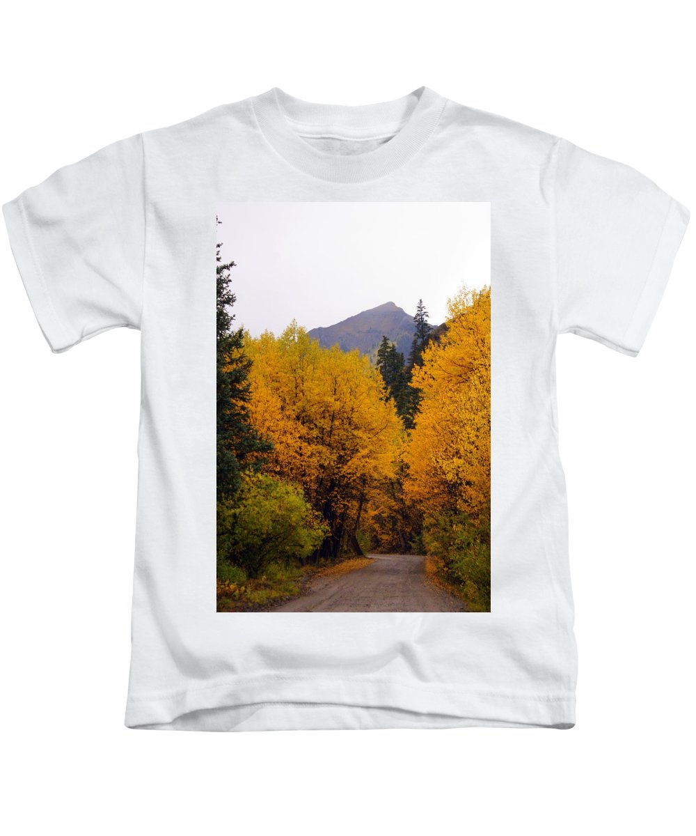 Fall Colors Kids T-Shirt featuring the photograph Colorado Road by Marty Koch
