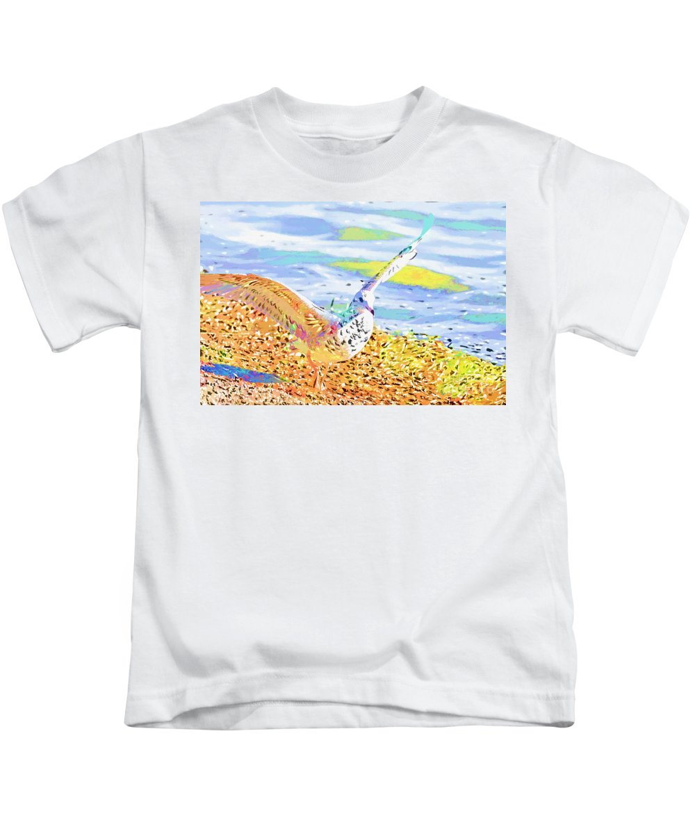Seagull Kids T-Shirt featuring the photograph Colorful Seagull by Deborah Benoit