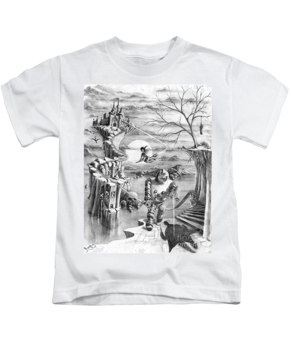 Witch Kids T-Shirt featuring the drawing Comic Book Cover by Murphy Elliott