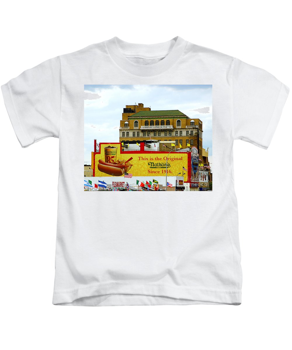 Food Kids T-Shirt featuring the photograph Coney Island Memories 9 by Madeline Ellis