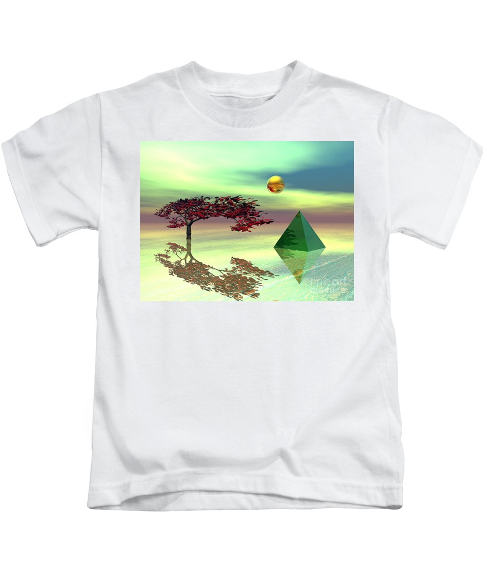 Fantasy Kids T-Shirt featuring the digital art Contemplative by Oscar Basurto Carbonell
